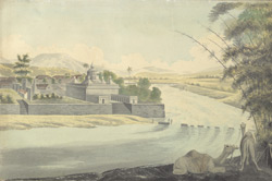 f.5   Temple on river, Poona.  'Pagoda at Poona.'